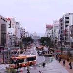 JR姫路駅から大手前通りを望む