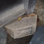 燈籠基石転用石